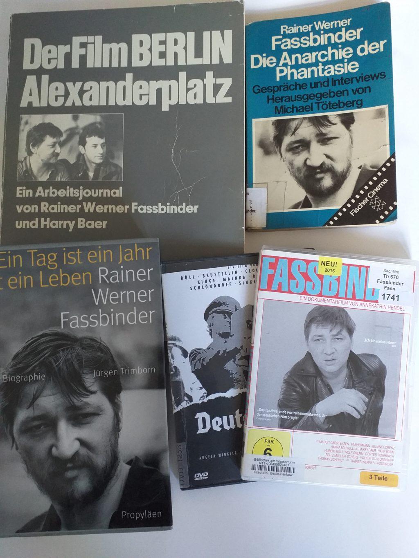 Bücher und Filme von und über Rainer Werner Fassbinder