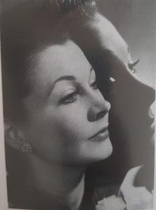 Schwarz-Weiß Bild der Schauspielerin Vivien Leigh
