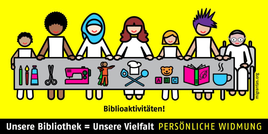 """Banner der Aktion """"Unsere Bibliothek = Unsere Vielfalt"""""""
